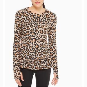 Kate Spade leopard-print ruffle hem top